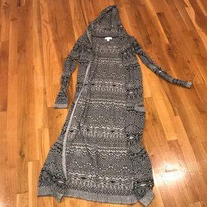 Sun and Shadow Long Sweater Cardigan